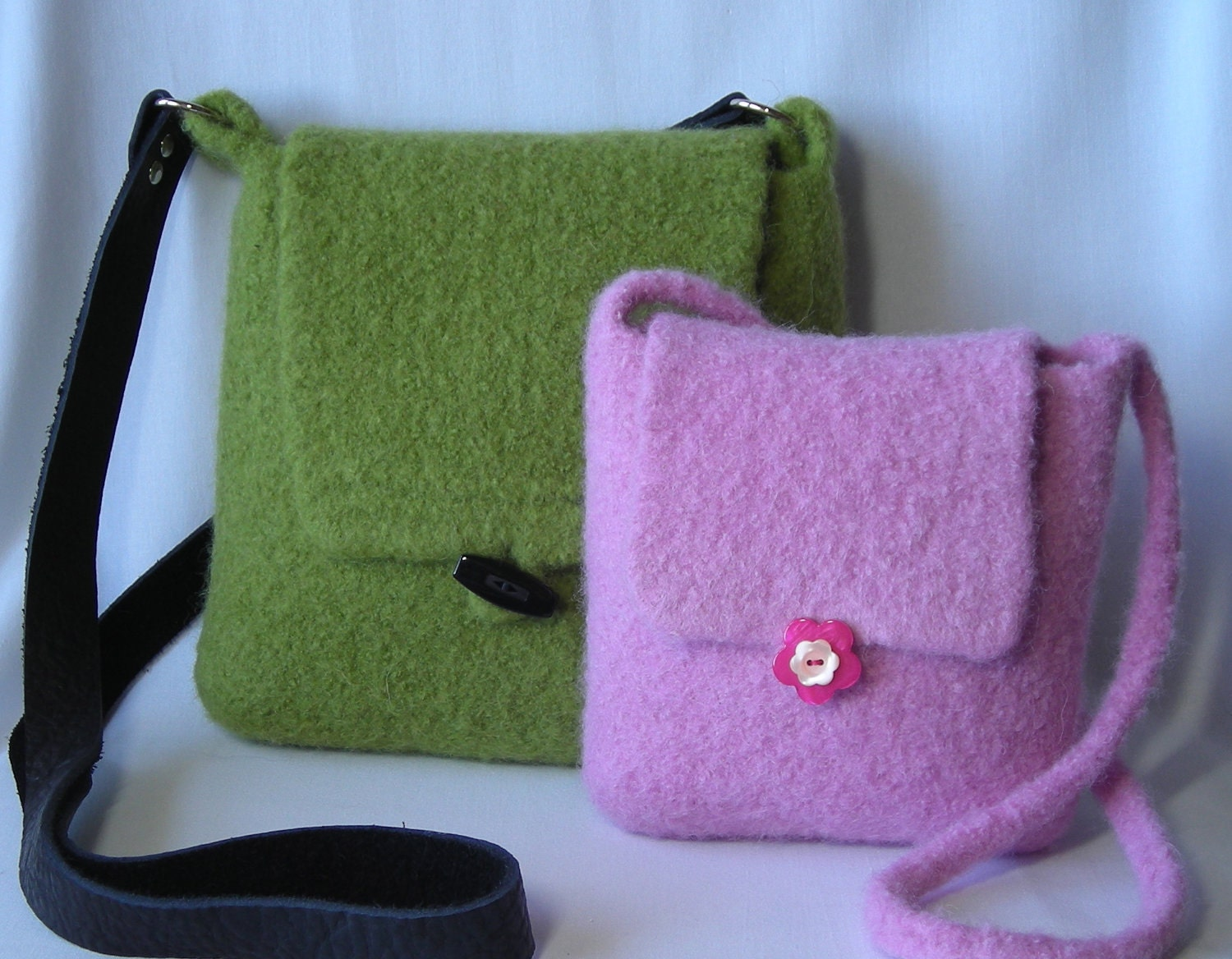 Knitting Pattern PDF Felted Hipster Bags hand knit felted