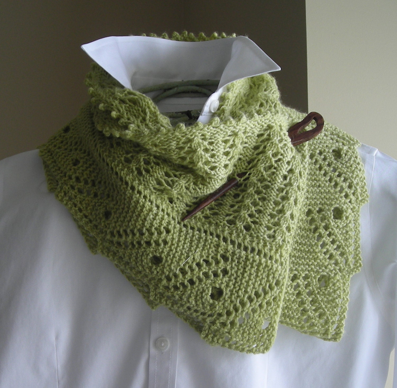 Shawl Knitting Pattern : Lace Scarf Shawl Knitting Pattern by lavenderhillknits on Etsy