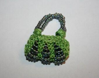 Lime Green\/purple Purse charm