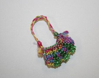Hippy Chick - Mini Purse Charm