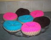 Amigurumi Crocheted Doughnuts Play Food~Breakfast Food~Crochet Doughnuts~Pretend Play~Child's Kitchen~Crochet Play Food Toy~Nursery School