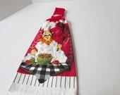 Crochet Topper Dish Towel~Chef Dish Towel~Kitchen Decor~Housewarming Gift~Cooks Towel~Birthday Gift~Crochet Top Chef towel~Grammy Kitchen