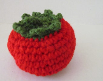 Amigurumi Plush Crochet Tomato Play food for Children's Kitchen~crochet vegetable~pretend play~gift for gardener~birthday~children's toy