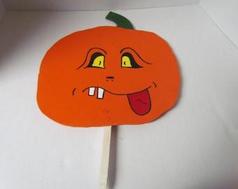 Halloween Pumpkin Face~Wooden Halloween Decoration~Garden Stake~Holiday Decoration~Halloween~Pumpkin~Home Decor~Yard Art~Trick or Treat