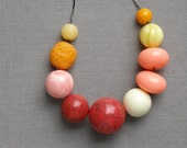 last one - lady marmalade necklace - vintage lucite and gunmetal