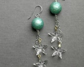 twinkle twinkle earrings - vintage lucite and sterling