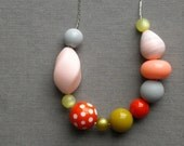 ambrosia necklace - vintage lucite and silverplated chain