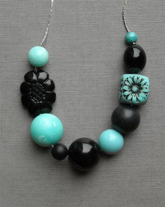 last one - rockin robin necklace - handmade, vintage lucite