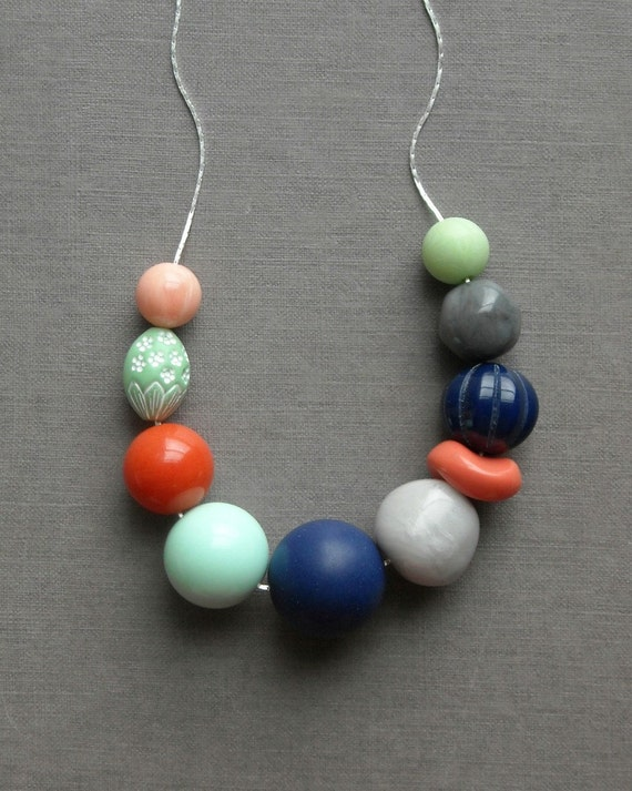 last one - meg necklace - vintage lucite and silverplated chain