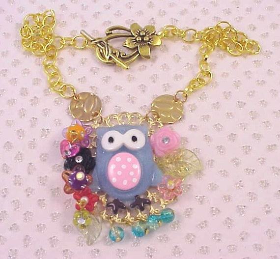 Wise Old Owl Gold Necklace