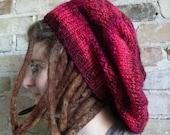PDF Knitting Pattern - Very Large Red Hat