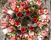 SALE Holiday/Christmas Paper Flower Wreath