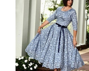 Womens Sewing Pattern Swing Dress gathered skirt Southern Belle 8503