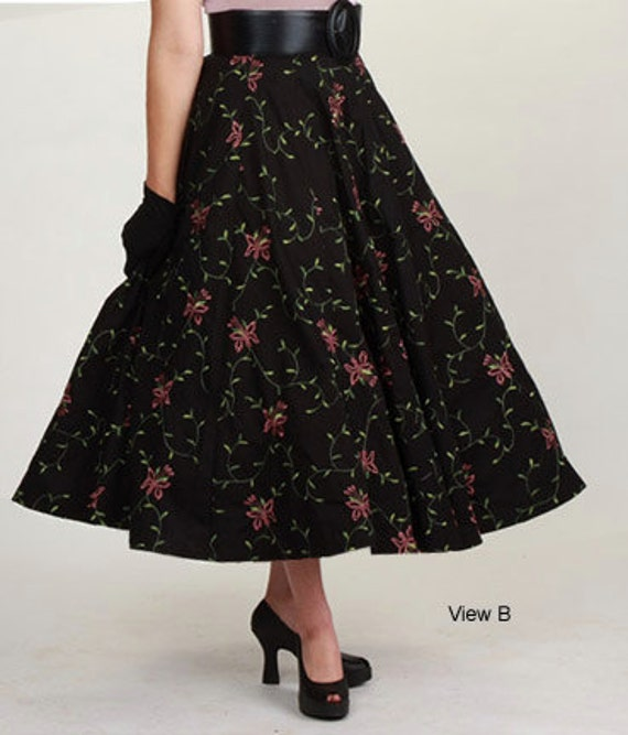 Perfect SEWING PATTERN WOMENS VINTAGE 40s DRESSY LONG SKIRT Waist 30
