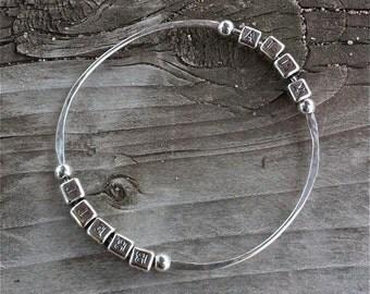 Individual Letters for Custom Bangle Bracelet - (this listing is for the individual letters ONLY)