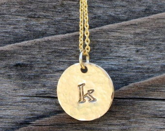 Monogram Necklace Personalized Necklace Gold - Petite Initial Jewelry Personalized Jewelry, Teacher, Bridesmaid Gifts, Mother's Day Gift