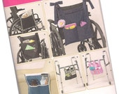 PATTERN SIMPLICITY 2822, wheelchair bags or totes, walker totes, new and uncut