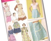 SIMPLICITY PATTERN 4282, vintage-inspired apron patterns, sizes small medium and large, new and uncut