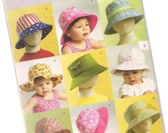 BUTTERICK  PATTERN B5056 baby and infant hats, nine styles, both boys and girls, one size fits most