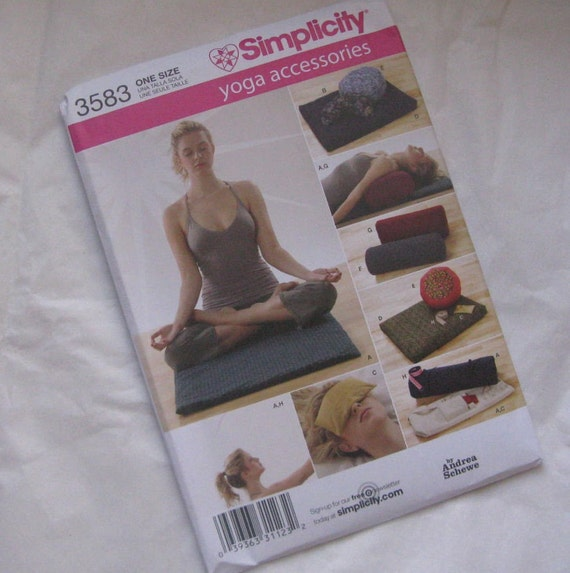 Simplicity Pattern Yoga Accessories 3583 By Reinventedboutique