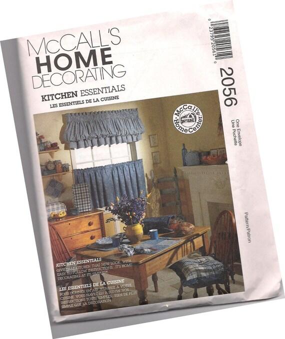 MCCALLS PATTERN 2056 Country Kitchen Home Essentials Decor