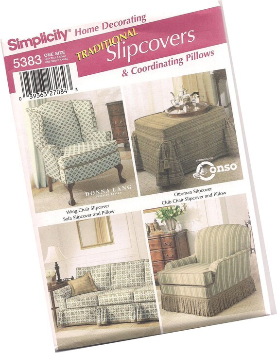 Simplicity Pattern 5383 Chair Slipcovers By Reinventedboutique