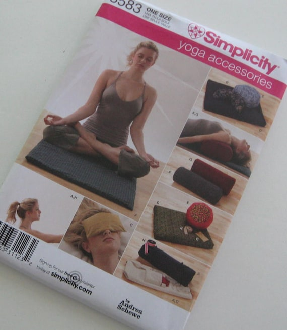 Pattern Simplicity 3583 Yoga Accessories Yoga Mat Neck Roll