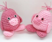 Baby chick toy set of two New baby shower or 1st birthday toy amigurumi crochet. Custom colors available