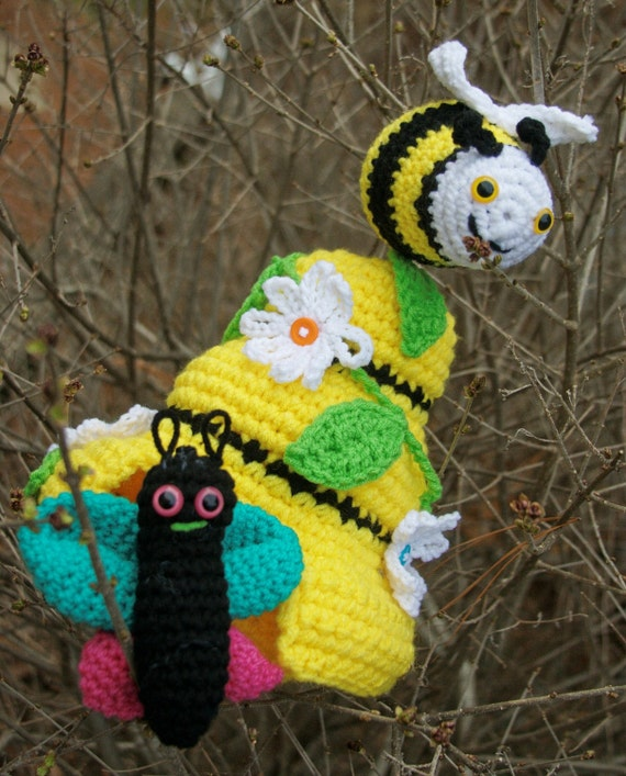 Items similar to Bee, Butterfly toy Crochet amigurumi ...