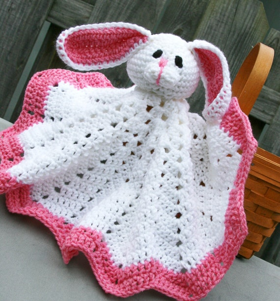 Items similar to baby bunny blankie baby lovey easter bunny baby gift