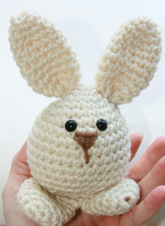 Amigurumi Bunny Head : Items similar to Easter Bunny toy, babies first soft ...