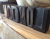 Rare 100 Year Old 'London' British Antique Wood Type