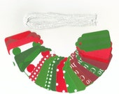 Christmas Clearance Gift Hang Tags - Christmas Basics Scallop Die Cut Tags (20) Package Decor / Ready To Ship