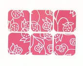 Pink and White Floral Mini Note Cards (set of 6) SALE CLEARANCE MN25