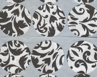 Silver Wedding Flourish Envelope Seals Stickers (12)