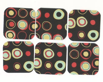 SALE - Funky Circles II Mini Note Cards / Set of 15 / MN86 / Clearance Sale