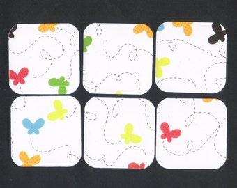 Buzzing Butterflies Mini Note Cards / Set of 9 / MN89 / Huge ONE DOLLAR Sale / Ready To Ship