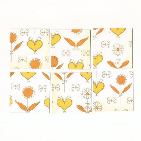 Hearts, Flowers, and Scrolls Mini Note Cards, Blank Mini Cards, Gift Cards, Mini Notes Set of 18