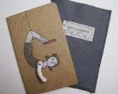 Daring Young Girl-Ruled Moleskine Cahier Journal