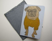 Pug in a Sweater-Ruled Moleskine Cahier Journal