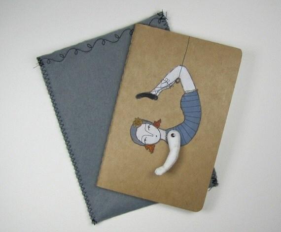 daring young girl- blank Moleskine Cahier journal