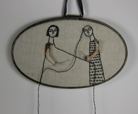 hand embroidery hoop art- we complete eachother