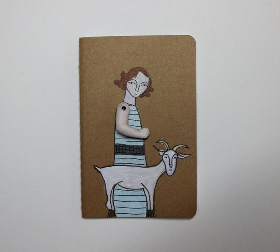 Moleskine Cahier journal- ruled- girl and her goat