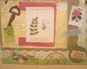 Green Collage Wall Hanging  - Off the Beaten Path -
