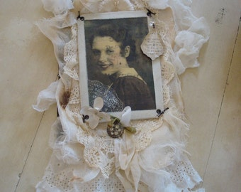 Vintage Mother's Day Fabric Collage - PDF Tutorial