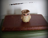 vintage owl candle ,