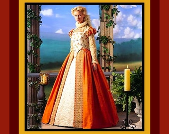 Shakespeare In Love -Hollywood Film -Romantic Elizabethan Queen Gown- Costume Sewing Pattern - Size 14-20- Uncut -OOP-Rare- Collectible