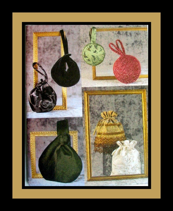 Collection of  Elegant Ladies Evening Bags - Beaded Fringe - Sewing Pattern -Uncut - Out of Print