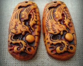 Pumpkin Phoenix Earrings