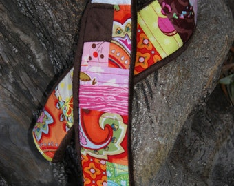 Victorious Vixen Scrappy Plush Quilted Camera Strap Cover